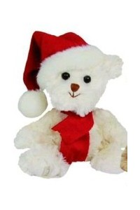 Ours Noël Baby Tomtenisse blanc