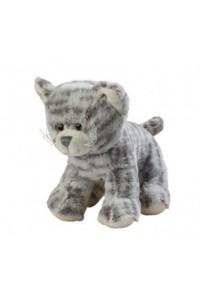 Chat en peluche gris