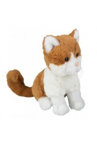 Chat en peluche marron clair