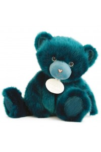 Ours en peluche bleu paon collection